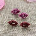 Frete grátis 2015 Novo bj Anjo Beijo lábios vermelhos brinco roxo vermelho roxo cor brincos do parafuso prisioneiro de jóias de moda Presentes para meninas Senhora