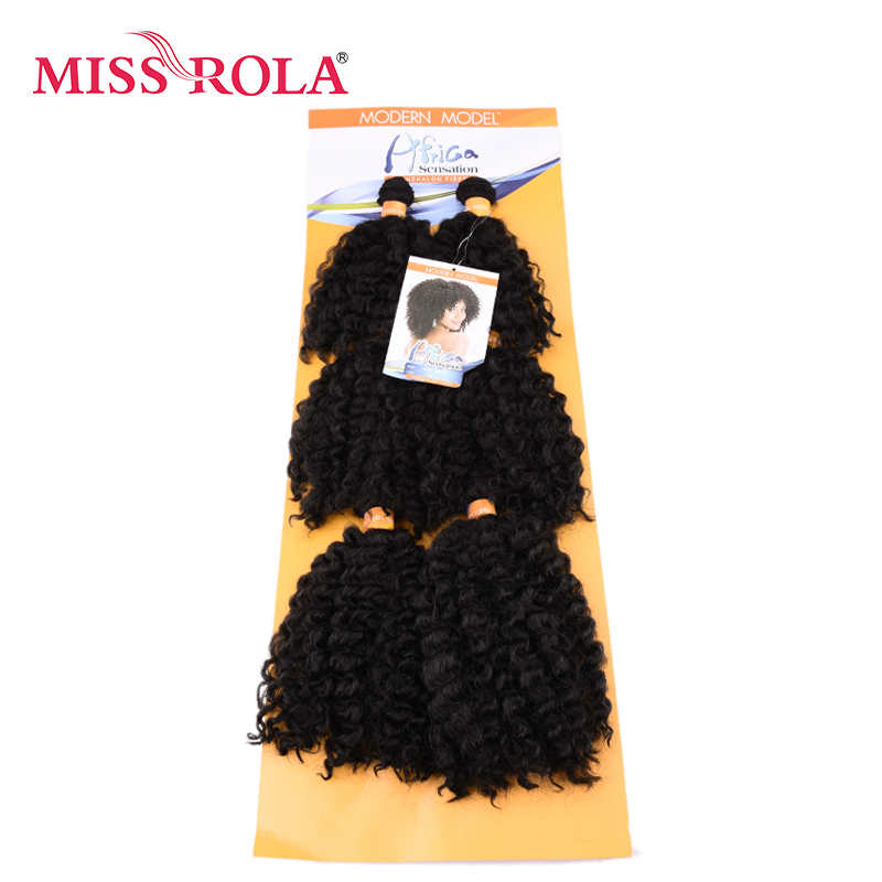Miss Rola Short Wavy Double Hair Weft Weave 100% Kanekalon Fiber Synthetic Hair Extensions 6pcs/lot
