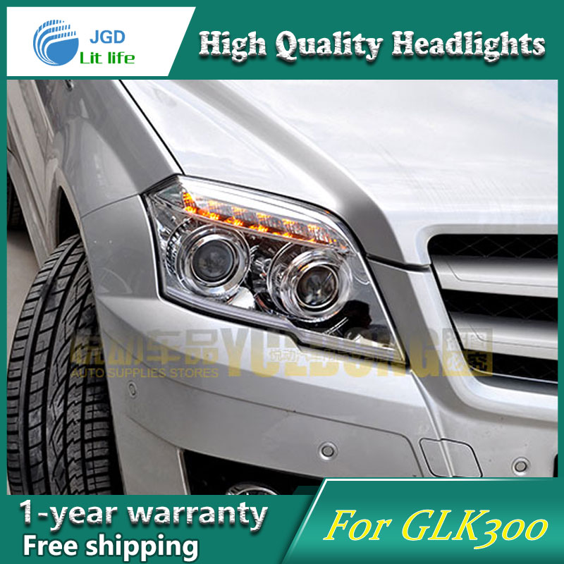 high quality Car styling case for Benz GLK300 2011 2012 2013 Headlights LED Headlight DRL Lens Double Beam HID Xenon hireno car styling for toyo ta corolla 2011 13 headlights led super bright headlight drl xenon lens high fog lam
