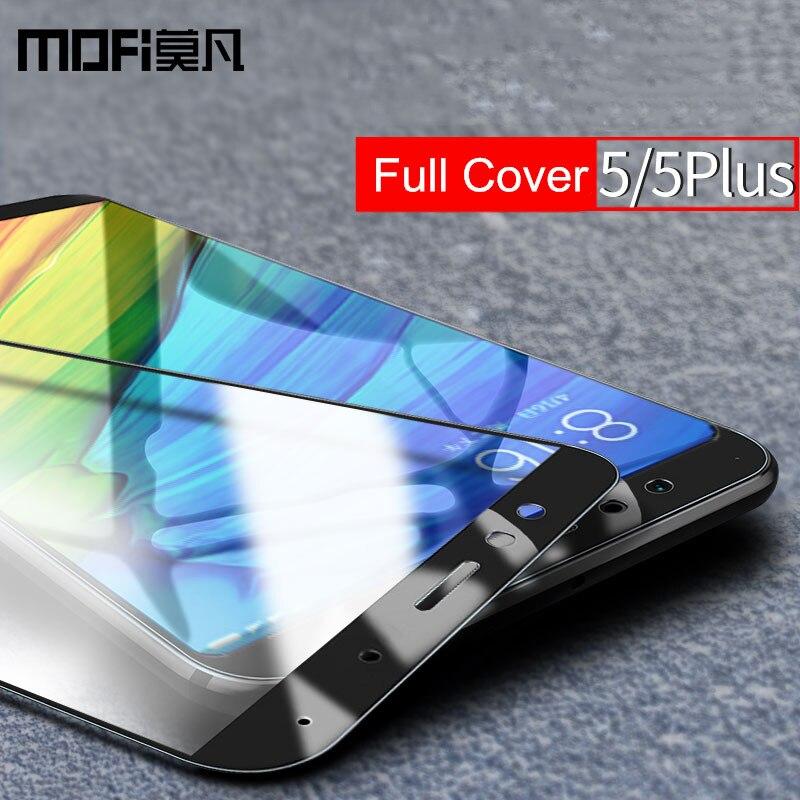 Xiaomi redmi 5 plus protezione dello schermo di vetro MOFi redmi5 pieno coperchio anteriore bianco nero protegge la pellicola xiaomi redmi 5 temperato vetro