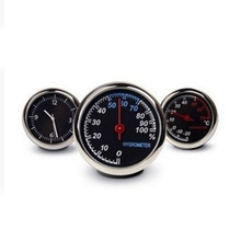 цены Car-styling Auto Interior Watch DigitalCar Digital Clock Auto Watch Automotive Thermometer Hygrometer Decoration Ornament Clock