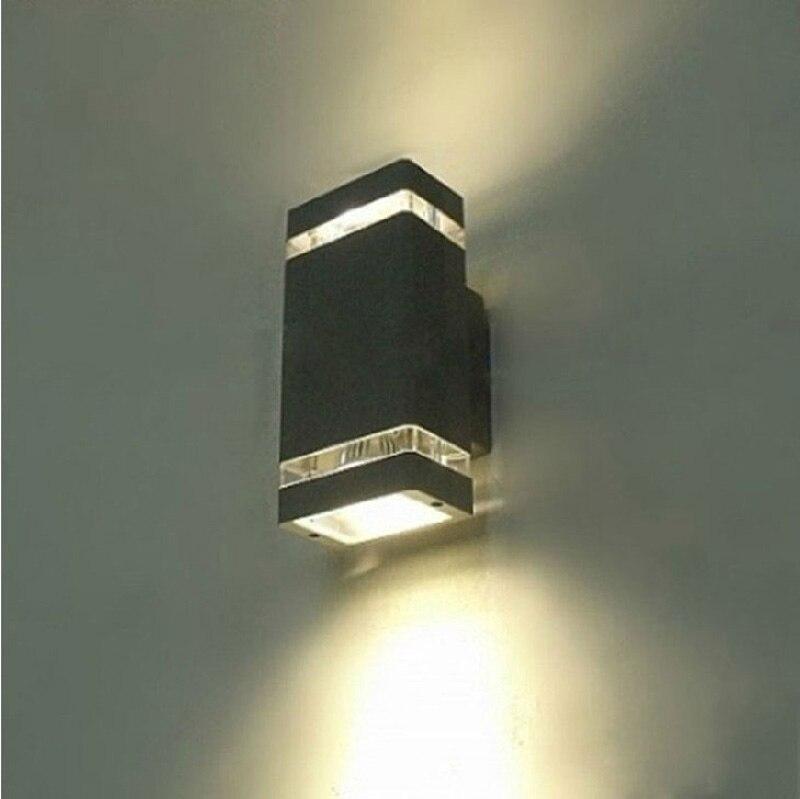 Updown indooroutdoor exterior wall walkway stairs corridor light updown indooroutdoor exterior wall hall light sconce lamp fixture kit black aloadofball Image collections