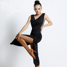 Fashion sexy quality ballroom modern Latin dance one-piece dress for women/female/girl, professional costume performance wears