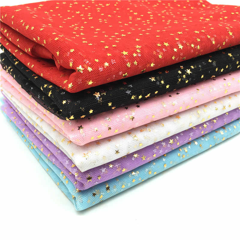 Fashion 150cm 100cm Bling Stars Bronzed Tulle Roll for DIY Fabric Spool  Crafts Wedding Decoration 204a1e589b99