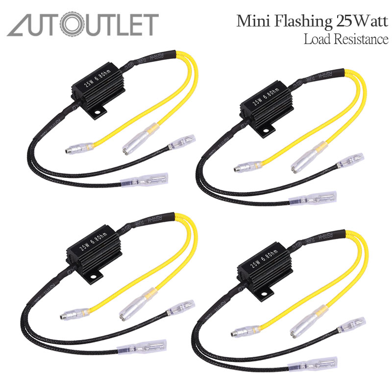 Reasonable Autoutlet 4pcs Load Resistance 25 W 6.8 Ohms Resistor Power Led Turn Signal Light Indicator Flasher Rate Controller Extremely Efficient In Preserving Heat Auto Replacement Parts Automobiles & Motorcycles