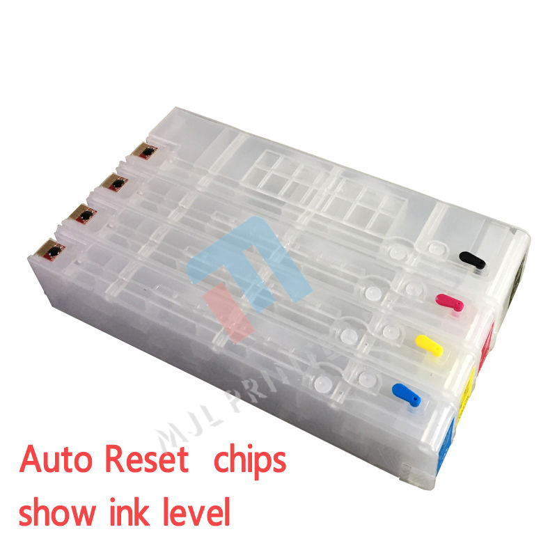 Grade A Free Shiping 2* For HP 970 971 Pro X451dn X451dw X576dw X476dn X476dw Refillable Ink Cartridge with chip 850ml compatible empty refillable ink cartridge for epson stylus pro 10000 pro 10600 10000cf printers cartridge with chip t499
