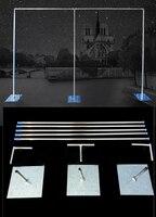 3 м x 6 м или других размеров Свадебные фон стенд с возможностью расширения Rods фон кадр Регулируемый Нержавеющаясталь трубы Свадебные рекви