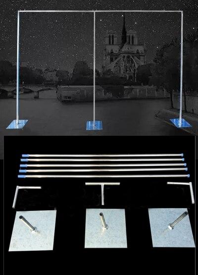 Support de toile de fond de mariage de 3 M x 6 M ou d'autres tailles avec des tiges extensibles