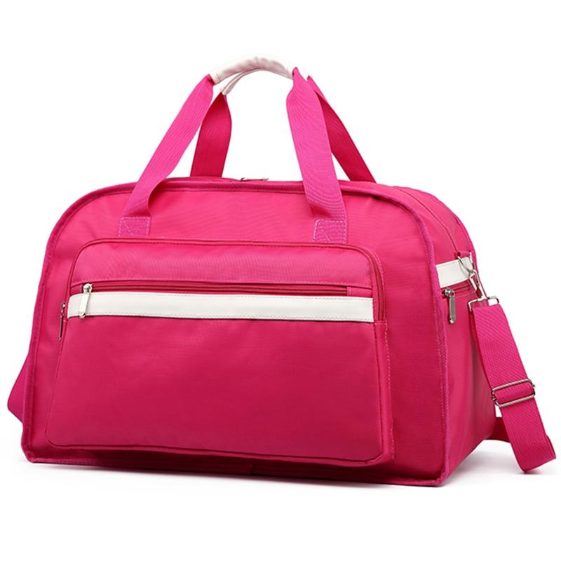 Women Travel Bags Waterproof Female Shoulder Bag Luggage Handbag Weekend For 09T