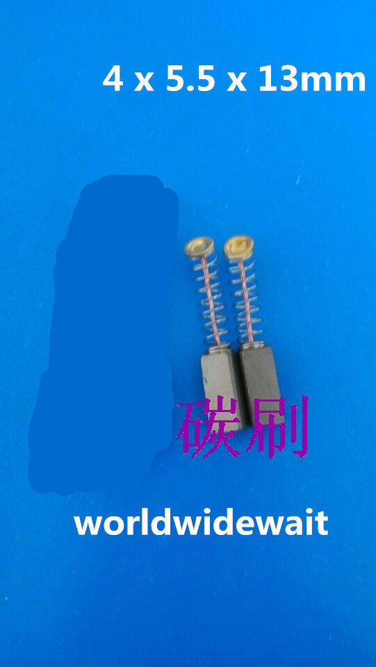 2Pcs Electric Drill Motor Carbon Brushes 13mm X 4mm X 5.5mm 0.51