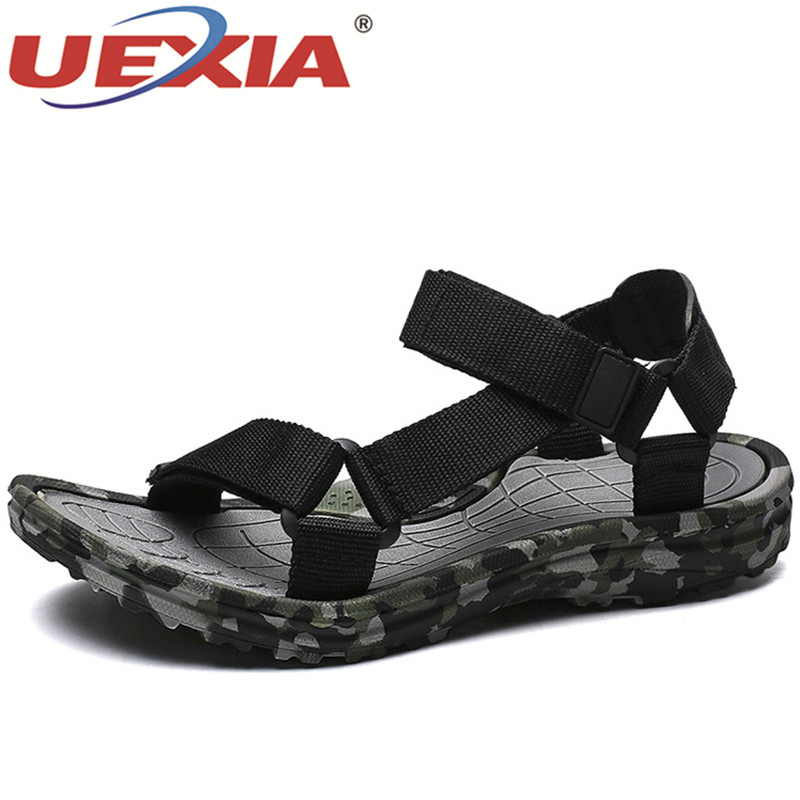 UEXIA Men Sandals Summer Shoes Non-Slip Comfortable Outdoor Walking Camouflage Casual title=