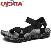 Uexia novos sapatos de verão homens sandálias praia camuflagem macio confortável moda coles antiderrapante respirável ao ar livre casual andandoSandálias masculinas