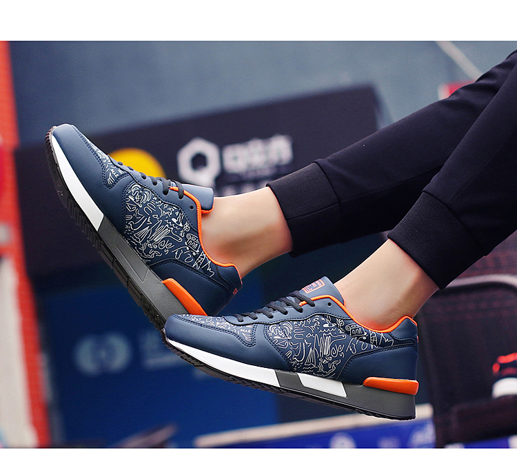 2017 Spring Graffiti Valentine Shoes Women Flat Heel Lace Up Leather Casual Shoes Plush Size 44 Low Top Sport Outdoor Shoes ZD43 (67)