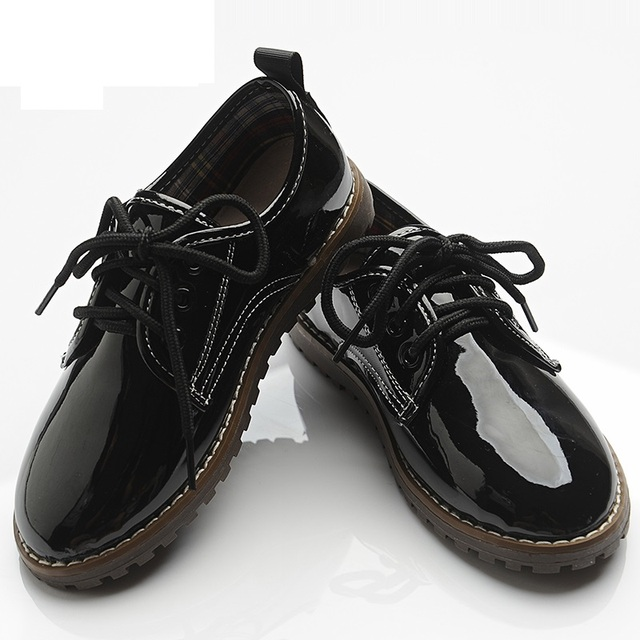 Весна Осень Дети Shoes Мальчик ИСКУССТВЕННАЯ Кожа Обувь для Формальные Свадьбу