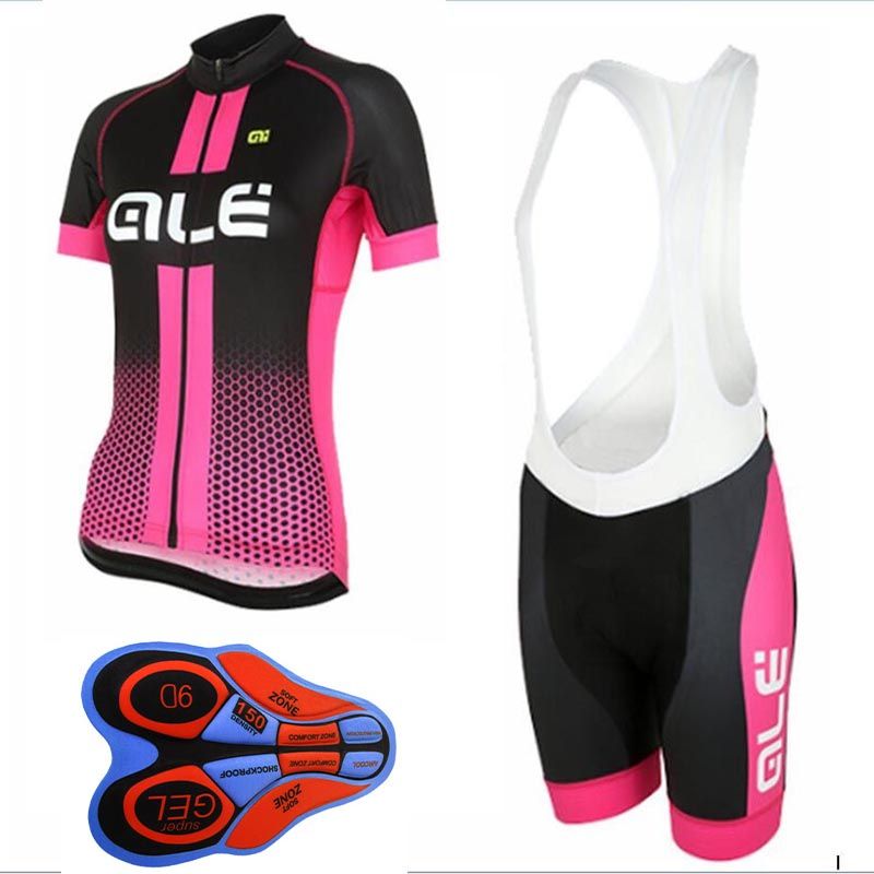 2017 Pro women's ALE cycling jersey road Bicycle clothing set summer Mountain bike wear Mtb maillot Ropa de Ciclismo mujer F2604 fastcute cycling jersey sets ropa de ciclismo short sleeve road bicycle jersey gel padded mountain bike clothing mtb cycle set