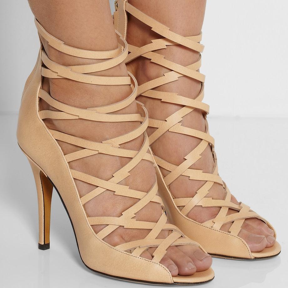 custom made colore nudo scarpe da donna sandali 2015 stile romano scarpe delle signore di modo - Sandale Colore
