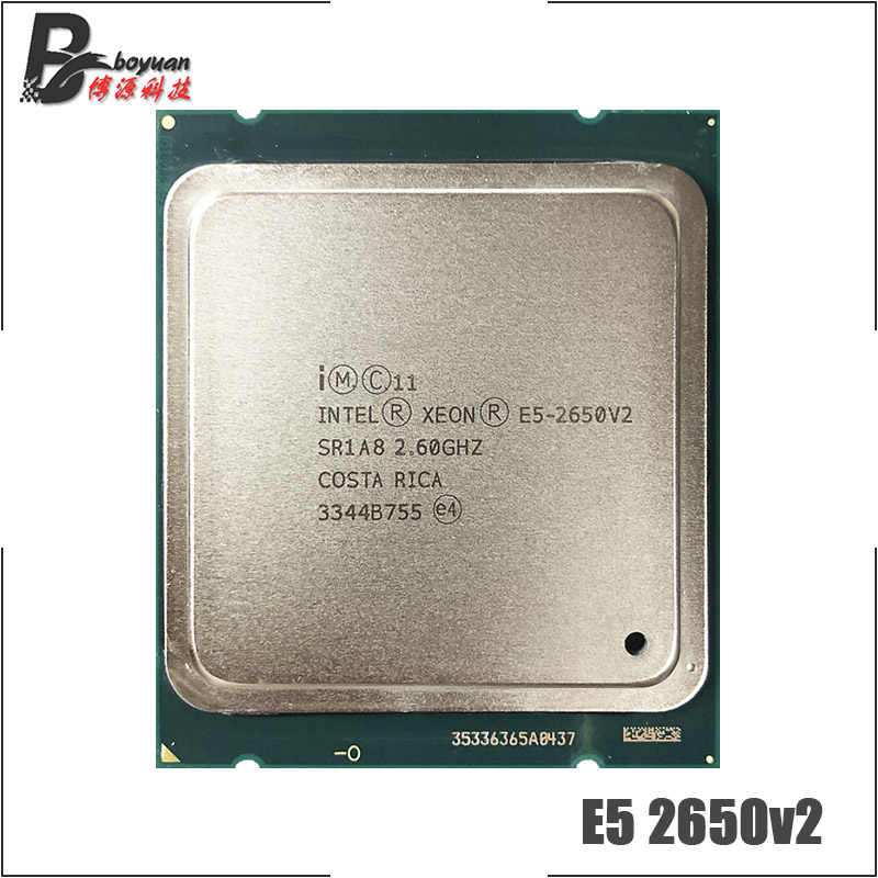 Intel Xeon E5-2650v2 E5 2650v2 E5 2650 v2 2.6 GHz Eight-Core Sixteen-Thread CPU Processor 20M 95W LGA 2011