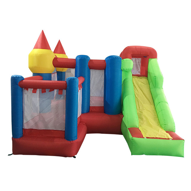 YARD Kids Bouncer Castle Inflatable Jumping House With Slide Present PE Ball Two Types Inflatable Trampoline Castle Bouncers