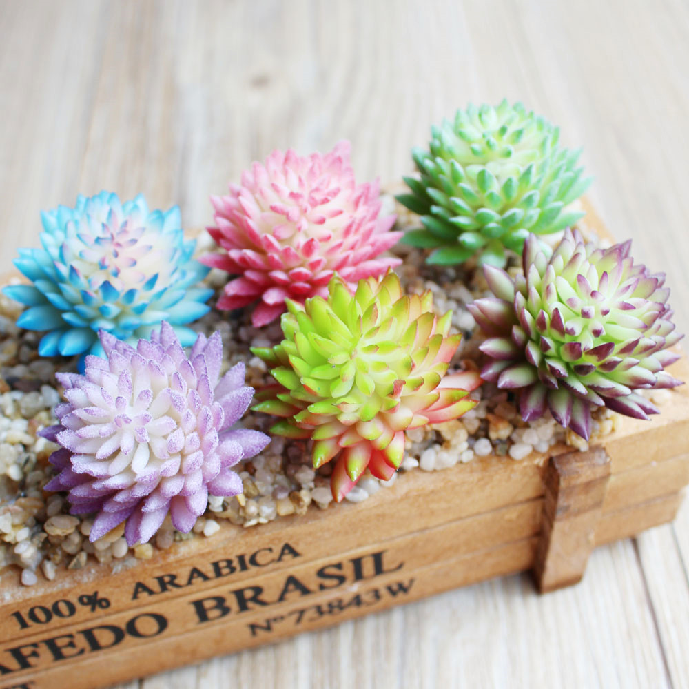 Artificial flower Succulent Real Touch Landscape Plants Grass Decorative Artificial Plan ...
