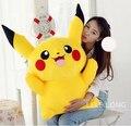 Pokemon brinquedos de pelúcia boneca grande anime Pikachu Amarelo presente de aniversário, o Envio gratuito de 40 cm