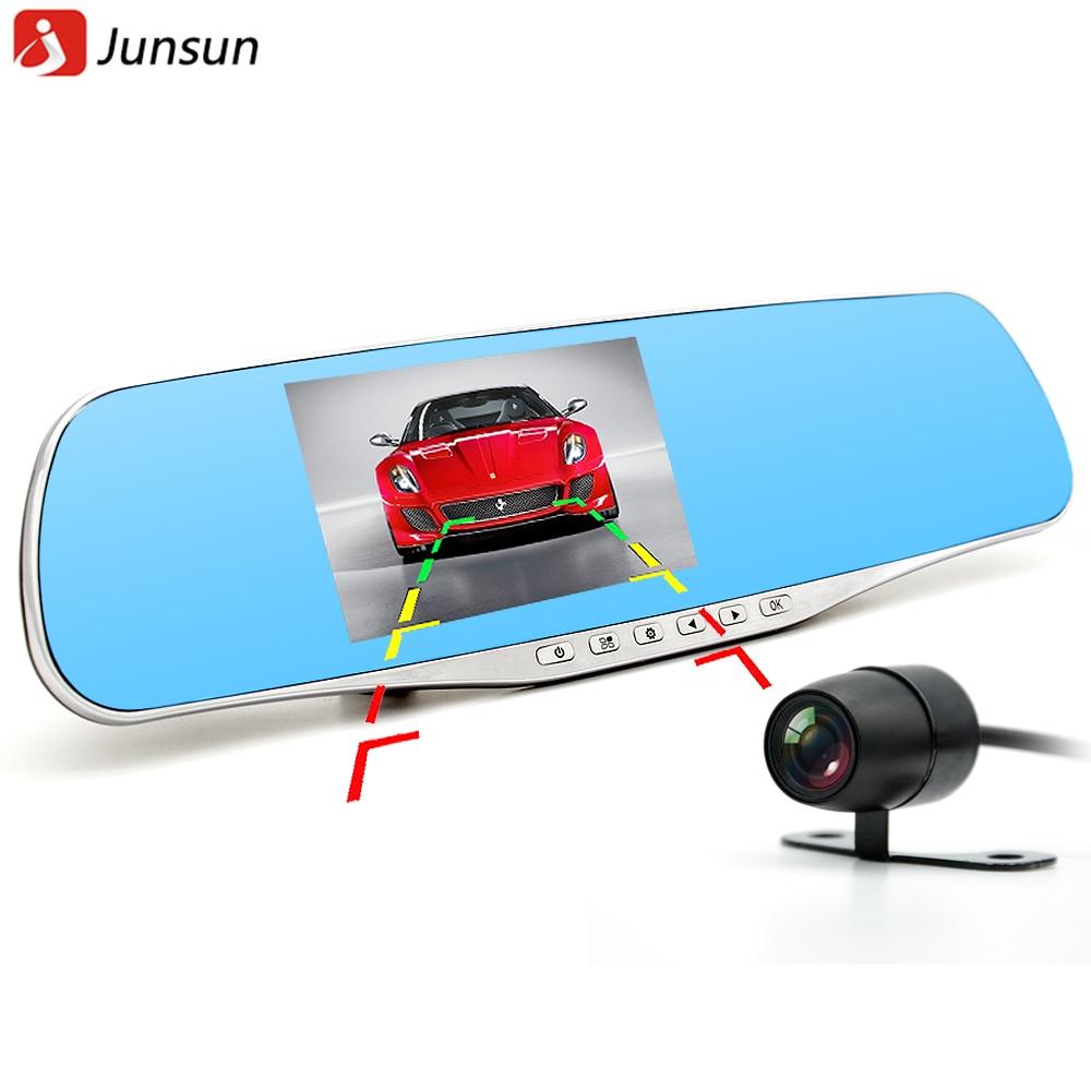 Junsun 2016 Car Camera Dual Lens Rearview mirror DVR Full HD 1080P Recorder Video Registrar Camcorder