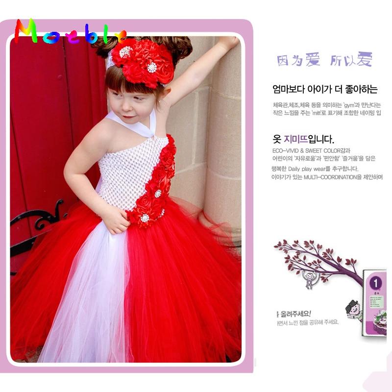 Shinning Strass Blumen Kinder Mädchen Tutu Kleid Floral Baby Sommer - Kinderkleidung - Foto 1