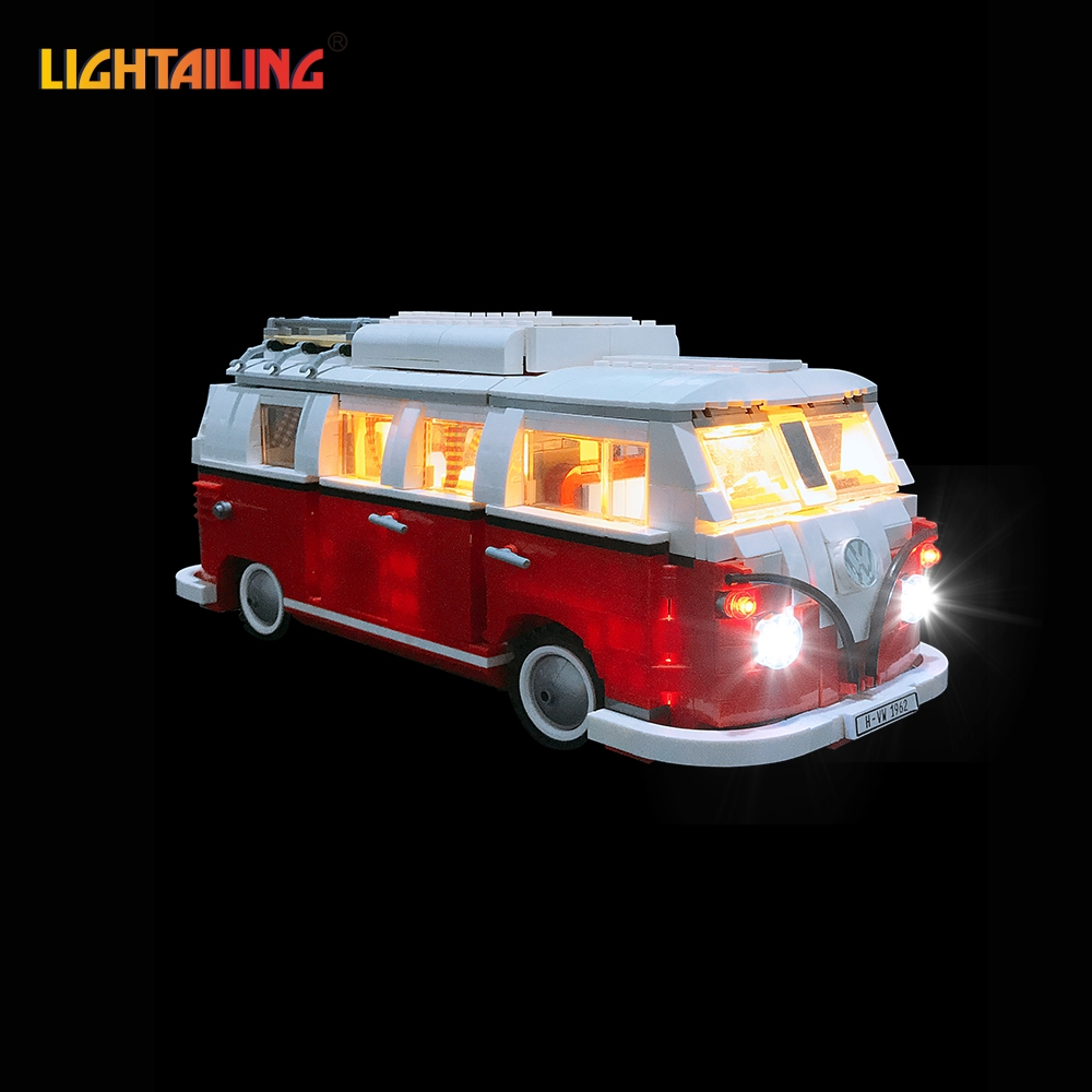 LIGHTAILING LED Light Kit For T1 Camper Van Building Blocks Toys Light Set Compatible With 10220 And 21001 For Kids Gift telecool led light building blocks toy only light set for creator series the t1 camper van model lepin 21001 and brand 10220