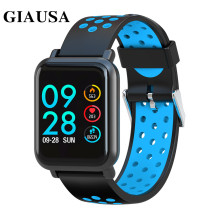 GIAUSA Smart Watch Men Tempered glass Fitness Tracker Blood pressure IP68 Waterproof Activity Women Smartwatch