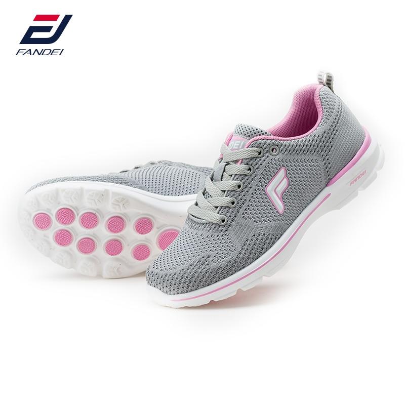 FANDEI printemps 2017 sneakers femmes respirant mesh chaussures de course pour femmes rembourrage sport chaussures femme zapatillas mujer deporte