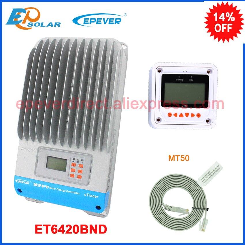 ET6420BND + MT50 дистанционного метр EPsolar MPPT 60A 60amp EPEVER зарядки аккумулятора солнечный регулятор 12 В 24 В 36 В 48 В авто работа