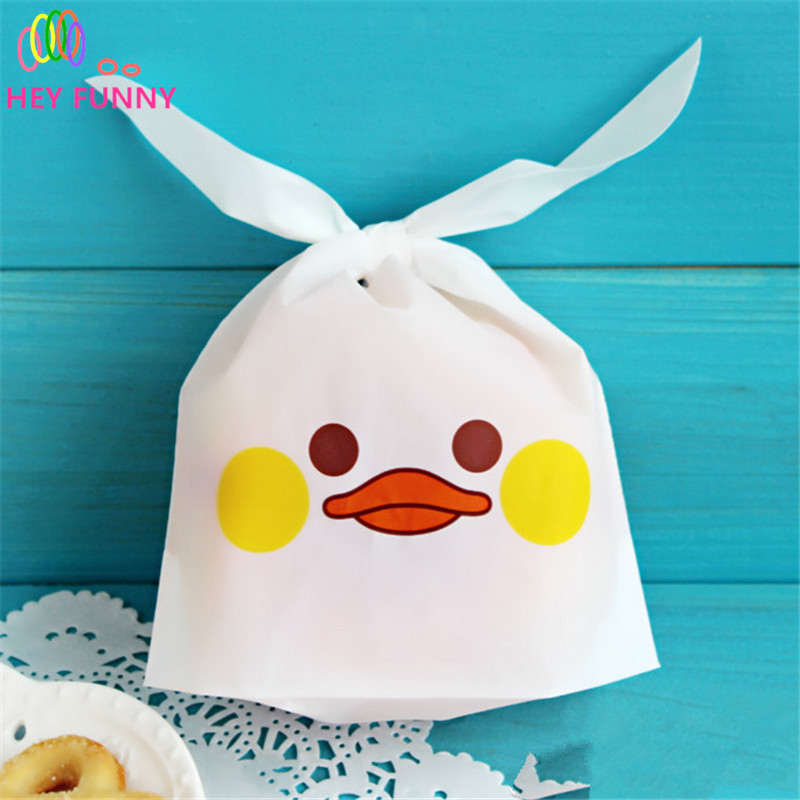 HEY FUNNY 50 pcs/pack Candy Bags Paper Cute Animal Expression Design For Sweet Dessert Handmade Wrapping Shopping Gift Bag