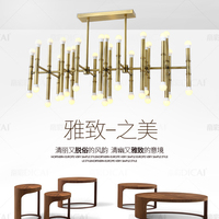 gold chandelier lighting modern Nordic retro industrial style chandeliers for dining room lighting for living room