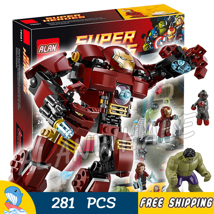 281PCS Super heroes Avengers Ultron The Hulk Buster Smash Witch Prime SY357 Model Building Blocks Toy Brick Compatible With Lego