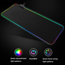 New Hot Gaming Mouse Pad RGB Oversized Glowing LED Extended Illuminated Mousepad for PC Computer Laptop
