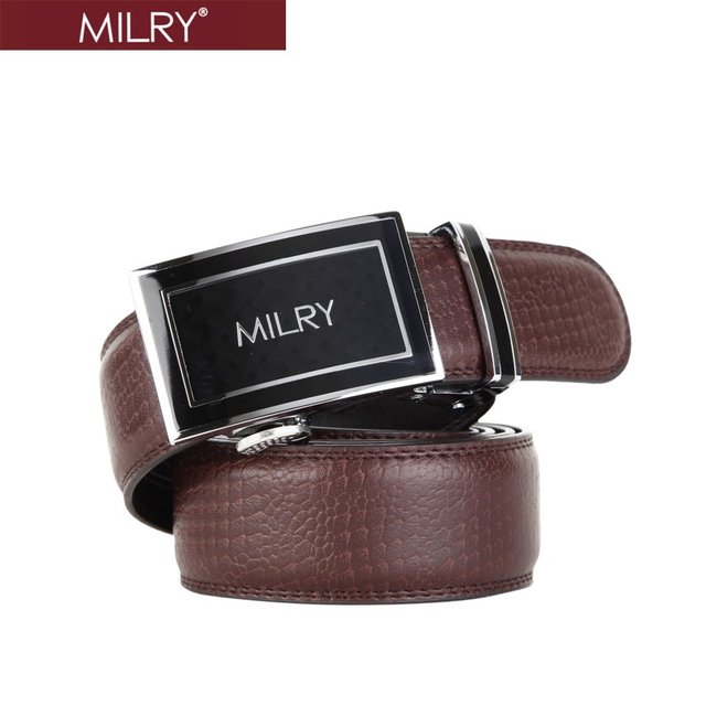 Free Shipping Brand MILRY 100% Genuine leather men snake pattern belt waistband with Automatic buckle L0087