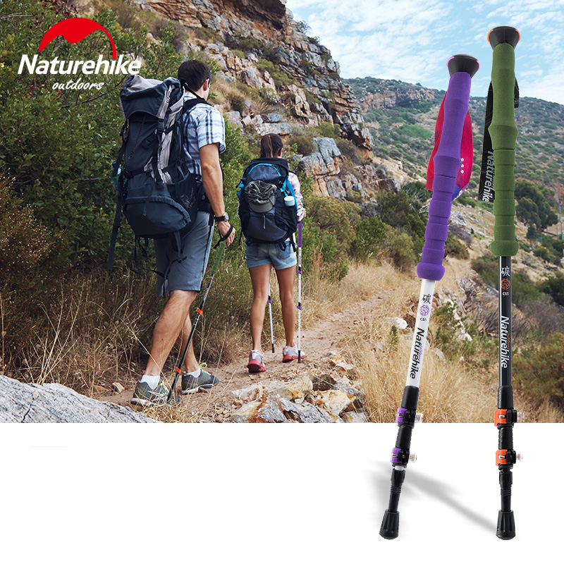 Naturehike Carbon Fiber Hiking Stick Trekking Pole Walking Stick Antishock  Baston Trekking Plegable Bastones Senderismo 200g In Walking Sticks From  Sports ...