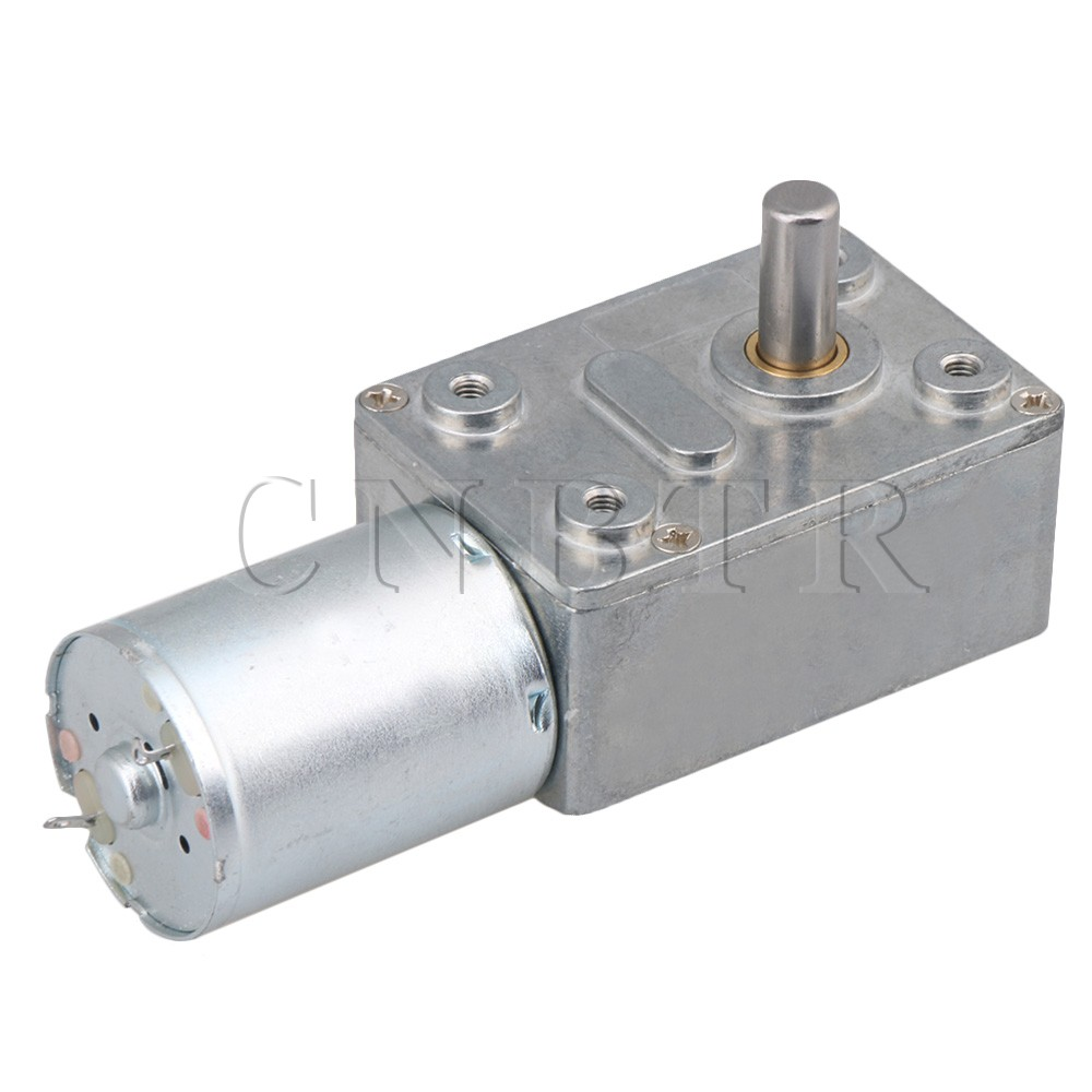 CNBTR DC <font><b>12V</b></font> <font><b>0.6RPM</b></font> Low Speed High Torque Turbo Reducer <font><b>Motor</b></font> Right Angle Gear image