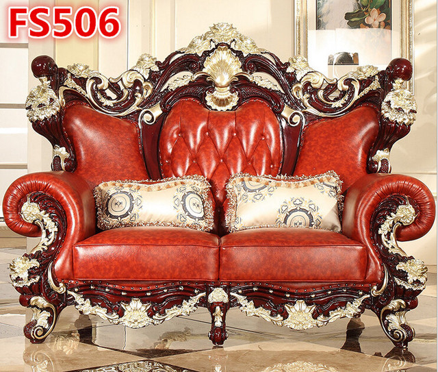 Very Luxury And Beautiful Solid Teak Wood Hand Carving Sofa Fs506