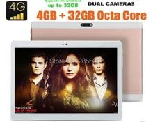 Unlock 10 pulgadas tableta 4G LTE FDD Octa Core Android 6.0 mediados ordenador pad 1920×1200 8.0mp 4 gb ram 64 gb rom dhl envío gratis