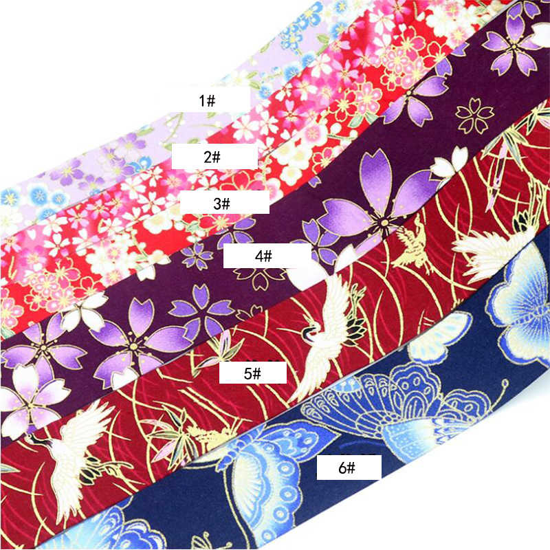 1 m / batch 10 25 50mm high quality   ribbon Japanese style cotton cloth DIY clothing accessories hair bow accessories collar