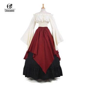 ROLECOS New Arrival Gothic Lolita Medieval Renaissance Women Costumes Victorian Long Dresses Retro Party Costumes GC229 1