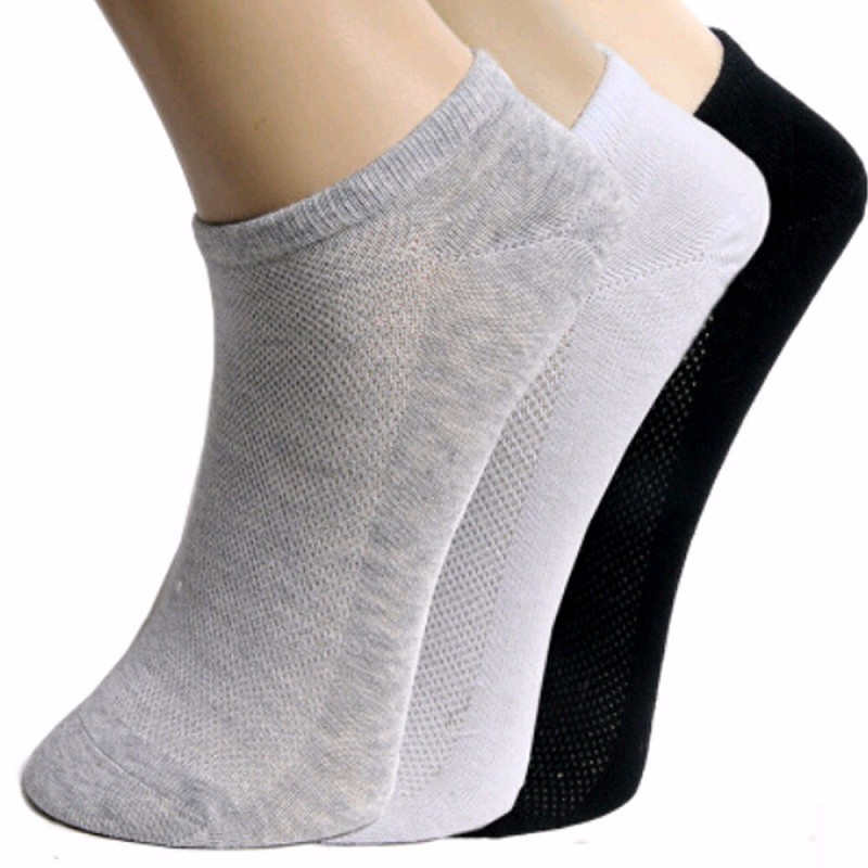 20pcs=10pair Mens Womens Lady Girl Boy Cotton Net Short Summer Calcetines Mujer White Black Grey Ankle Socks Net Hole Breathable