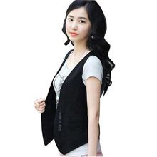 T 2016 new summer short design vest female coat all-match sleeveless vest waistcoat