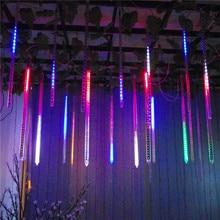 30CM Meteor Shower Rain LED Tubes Light AC100-240V EU/US Plug Christmas Tree Fairy String Light Garden Luces Decora Xmas waterproof meteor rain white led string decorative lights 100 240v 2 round pin plug