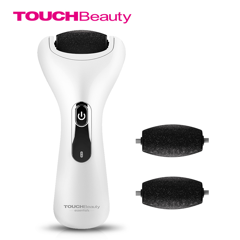 TOUCHBeauty Pedicure tools Foot File Callus Shaver Wet Dry Rechargeable Corn Hard Skin Remover with 2 replacement Roller HeadsTOUCHBeauty Pedicure tools Foot File Callus Shaver Wet Dry Rechargeable Corn Hard Skin Remover with 2 replacement Roller Heads