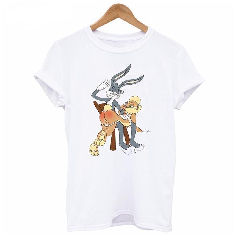 f0703c024 Rabbit Bunny and Lola T Shirt Men and Women Bugs Cartoon Tee big Size S XXXL