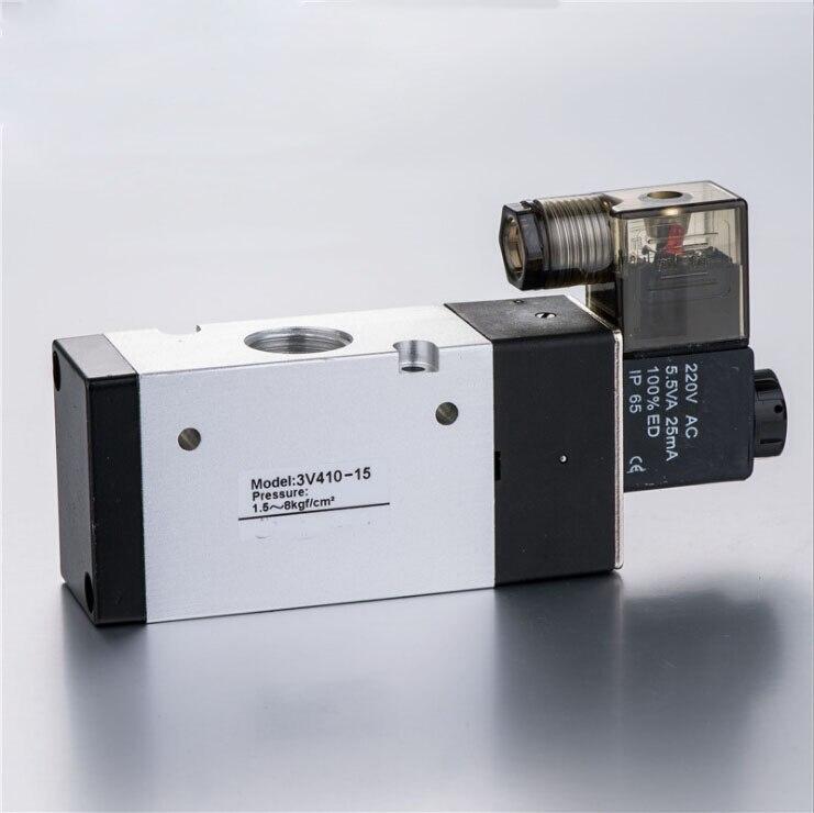 3 Ports Airtac Solenoid Valve 1/2 Pneumatic Solenoid Valve 3V410-15 airtac solenoid valve 3v220 08 3v200 series 3 2 way 1 4 bspt pneumatic air control valve