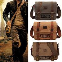 Men S Vintage Canvas Satchel Messenger Bag School Military Shoulder Bag Boy S Travel Handbag Free