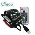5 V USB LLEVÓ la tira 5050 RGB flexible de la luz 1 M IP65 impermeable de TELEVISIÓN de Fondo de Iluminación de Tira con Teclas del RGB RF Remoto controlador