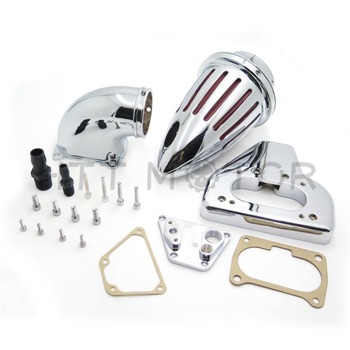 Aftermarket motorcycle parts Motorcycle Air Cleaner kits intake for 2002-2009 Honda VTX 1800 R S C N F CHROME image